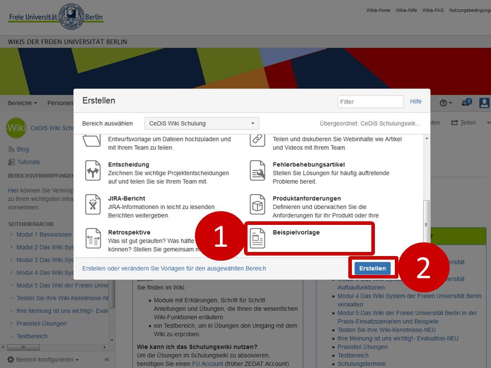 Seitenvorlagen erstellen - CeDiS Wiki Schulung - Wikis der Freien ...